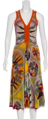 Jean Paul Gaultier Soleil Sheer Midi Dress Orange Soleil Sheer Midi Dress