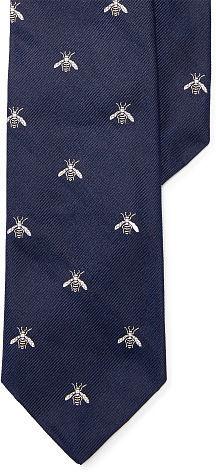 Polo Ralph LaurenPolo Ralph Lauren Bee Silk Narrow Club Tie