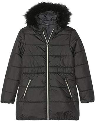 GUESS Girl's LS Hoddie Padded Outwear Jacket
