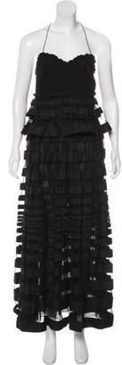 Salvatore Ferragamo Strapless Midi Dress w/ Tags