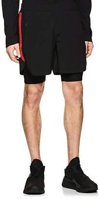 BLACKBARRETT Men's Layered Compression Gym Shorts