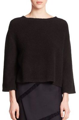 3.1 Phillip Lim Cropped Boxy Sweater $395 thestylecure.com