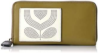 Orla Kiely Punched Pocket Leather Big Zip Wallet Wallet