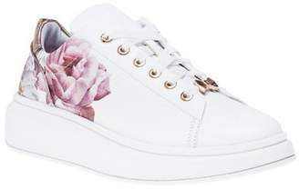 Ted Baker New Womens White Ailbe 2 Leather Trainers Court Lace Up