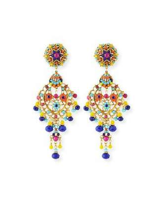 Jose & Maria Barrera Bright Filigree Chandelier Earrings