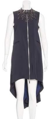 Thomas Wylde Embellished High-Low Dress
