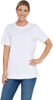 Denim & Co. Essentials Round-Neck Short Sleeve Knit Terry Top