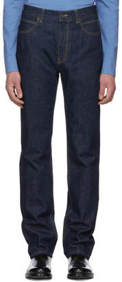 Calvin Klein Blue High-Rise Straight Jeans