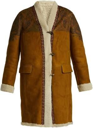 Etro Ribbon-trim shearling coat