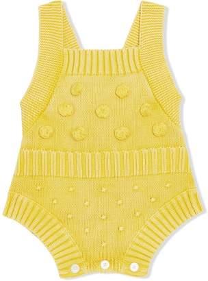 Burberry Contrast Knit Cotton Playsuit