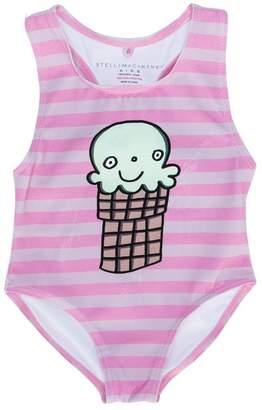 Stella McCartney striped ice cream print swimsuit