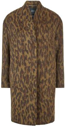 SET Leopard Print Coat