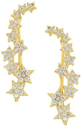 Sterling Forever CZ Star Ear Crawlers