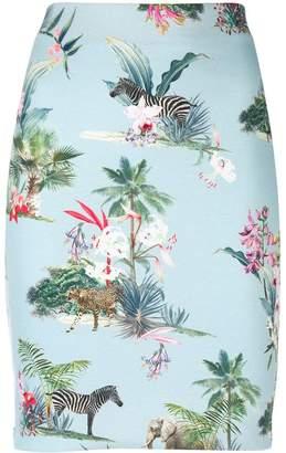 Marc Cain floral print skirt