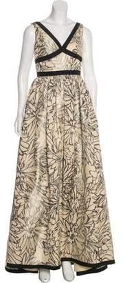 Oscar de la Renta Silk-Blend Gown