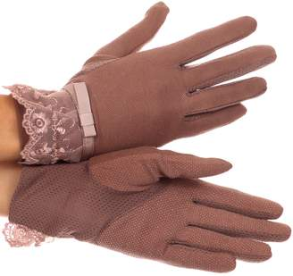 Sakkas CMZG-4 - Annie wrist length antique look femminine assorted stretch glove with lace - OS