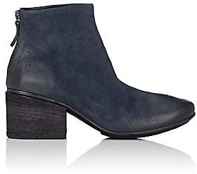 Marsèll Women's Burnished Suede Ankle Boots-Navy