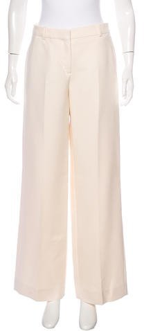 Christian Dior Virgin Wool Wide-Leg Pants