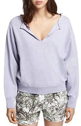 Sanctuary Breslin Split-Neck Sweatshirt