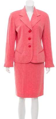 Christian Dior Structured Herringbone Skirt Suit w/ Tags
