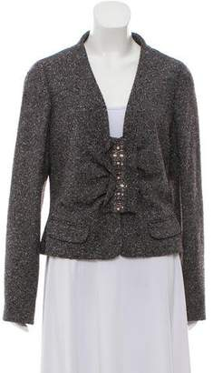 Valentino Tweed Embellished Blazer w/ Tags