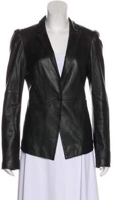 Elizabeth and James Notch-Lapel Leather Jacket