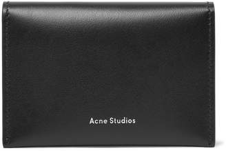 Acne Studios Leather Bifold Cardholder - Men - Black