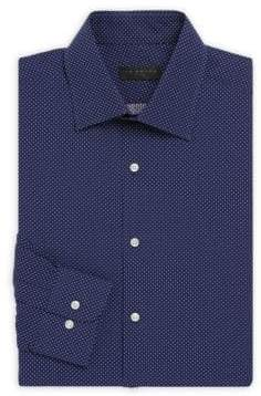 Regular-Fit Micro-Patterned Shirt