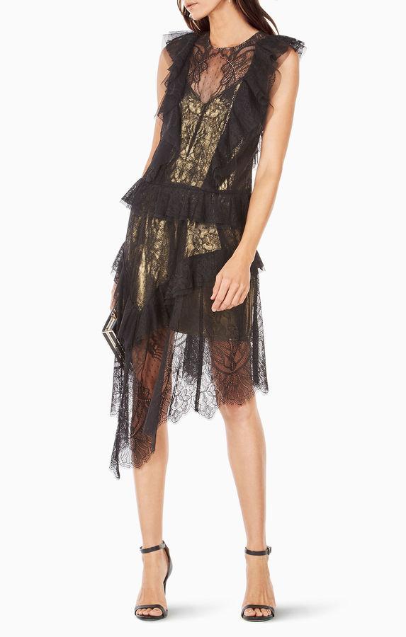 BCBGMAXAZRIAKailin Ruffled Lace Dress