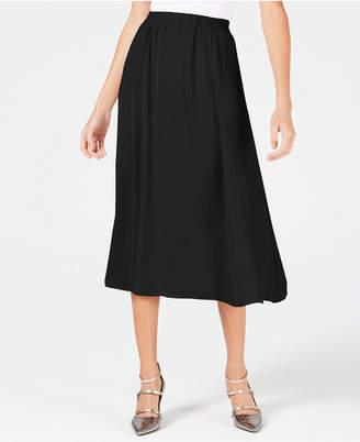 Alfani Washed-Satin A-Line Skirt