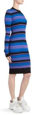 Maison Margiela Crewneck Stripe Knit Bodycon Dress