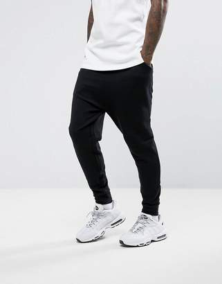 Asos Design Drop Crotch Joggers In Black
