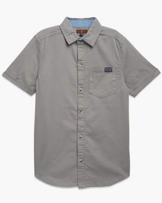 7 For All Mankind Boys S-XL Short Sleeve Shirt in Textured Wild Dove