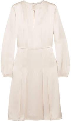 Stella McCartney Pleated Satin Dress - Ecru