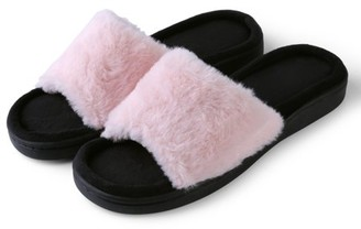 22054cccf96a at Walmart.com · AERUSI Women s Light And Fluffy Soft Plush Sandal Slippers  with No-Slip Rubber Sole For