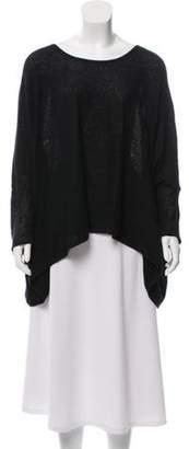 Helmut Lang Oversize Knit Top Black Oversize Knit Top