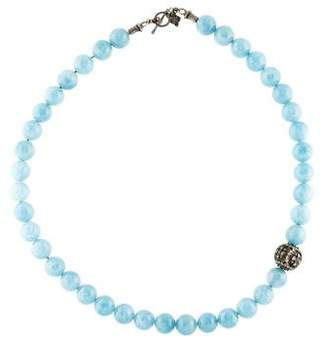 Armenta Aquamarine & Diamond Bead Strand