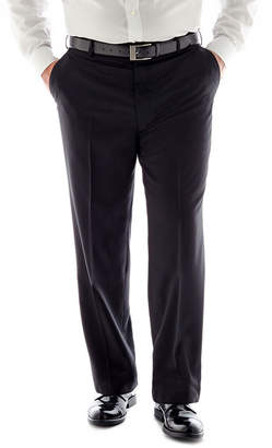 STAFFORD Stafford Travel Medium Blue Flat-Front Suit Pants-Big & Tall