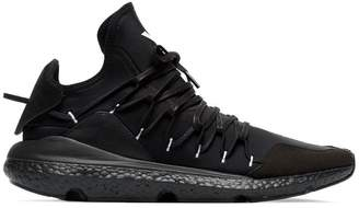 Y-3 black leather Kusari sneaker