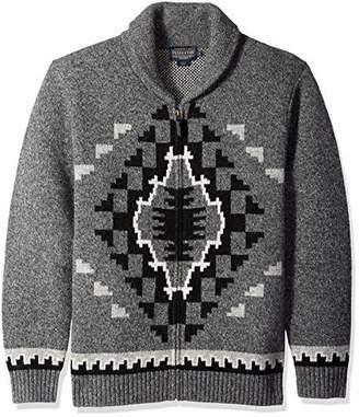 Pendleton Men's Two Grey Hills Full Zip Cardigan Sweater