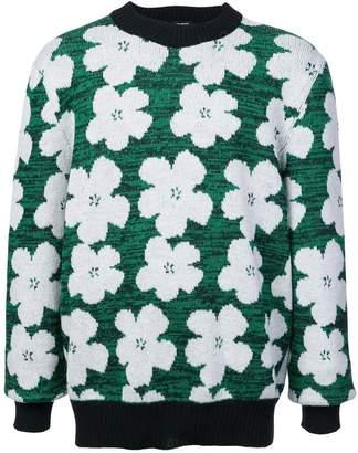 Calvin Klein floral intarsia jumper