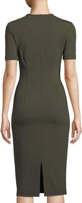 Yigal Azrouel Short-Sleeve Body-Con Scuba Dress