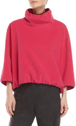Hache Pink Contrast Trim Sweater