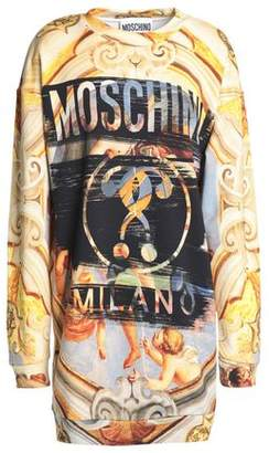 Moschino Printed French Cotton-Terry Mini Dress