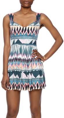 MinkPink Printed Fit-And-Flare Dress