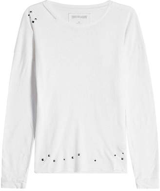 True Religion Embellished Top with Cotton and Linen
