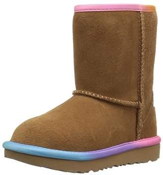 UGG Girls T Classic Short II Rainbow Pull-on Boot