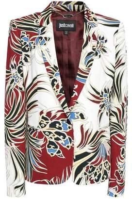 Just Cavalli Printed Jersey Blazer