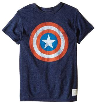 The Original Retro Brand Kids Captain America Tri-Blend Tee Boy's T Shirt