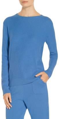 St. John Cashmere Knit Jewel Neck Sweater
